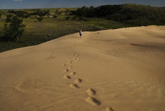 Sand dune tracks