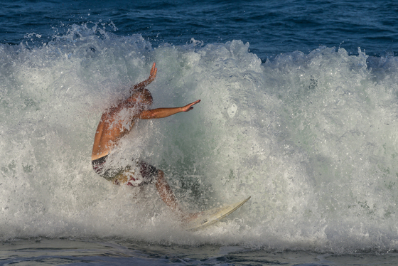 Third Place Winner - Surfing in Sebastian Inlet Park