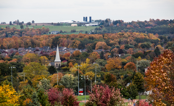 Autumn Over A Small Town