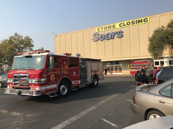Haz-Mat response by Sac Fire to Sears on Florin Rd. approx. 2pm 11/11/18, following customer complaint of dizziness/ shortness of breath.