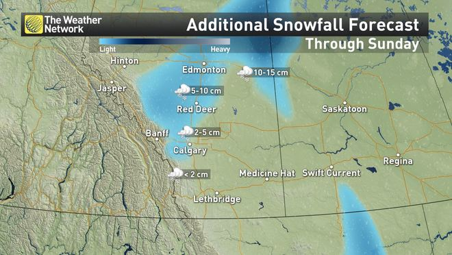 Map Of Canada Today.News Prairies How Sunday S Snow Is Set To Play Out The Weather