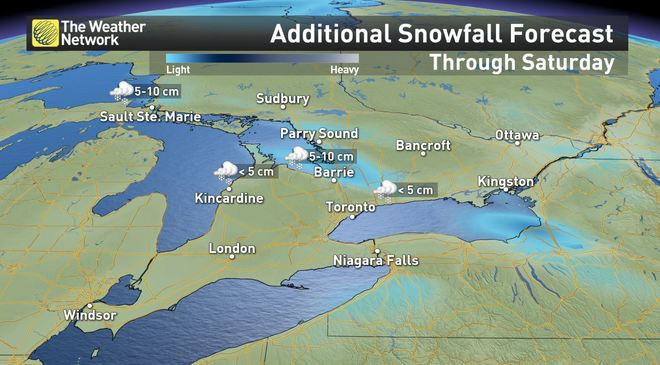 News - Ontario: Squalls and frigid cold linger before the
