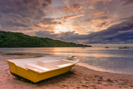 Yellow Boat & Sunset- Jobo Bay