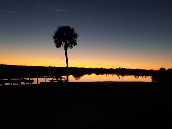 Gamble Rogers sunset