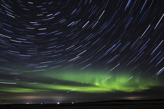 The Aurora and Star Trail
