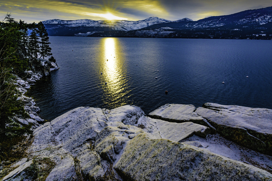 Okanagan Lake Winter Sunset