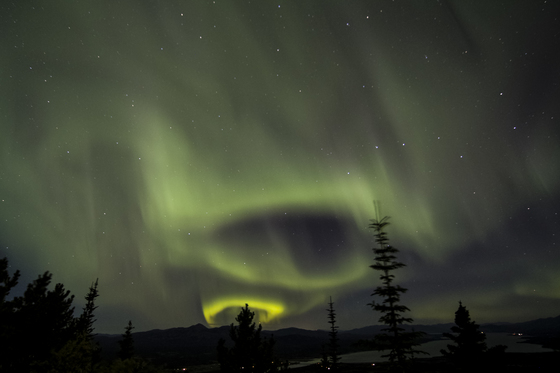 Aurora over Marsh Lake, Yukon