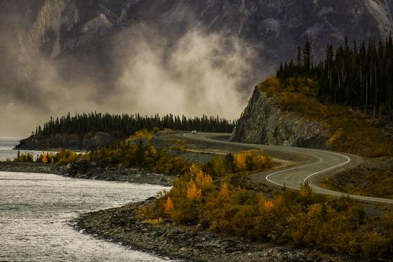 Fall along a Yukon Highway