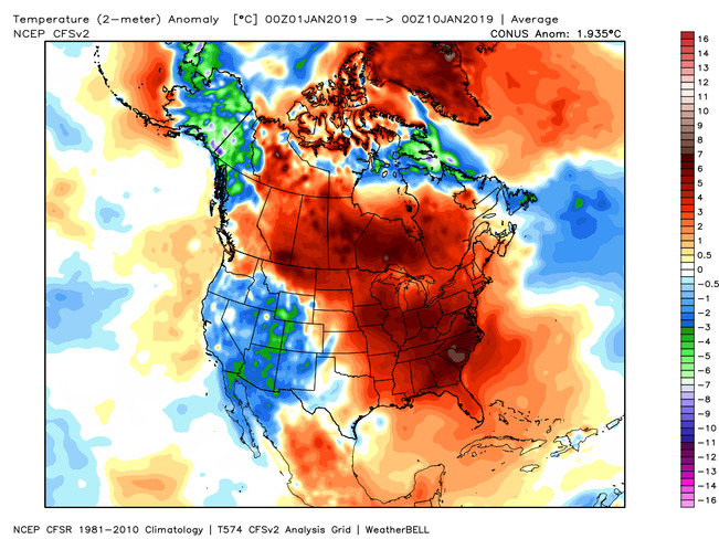 Map Of Canada East And West.News February East Thaws Out Focus For Major Cold Now On West