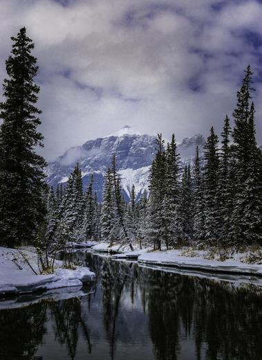 Cloudy Mt. Peechee, Snowy Creek