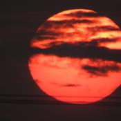 coucher de soleil du 10 juillet 2019