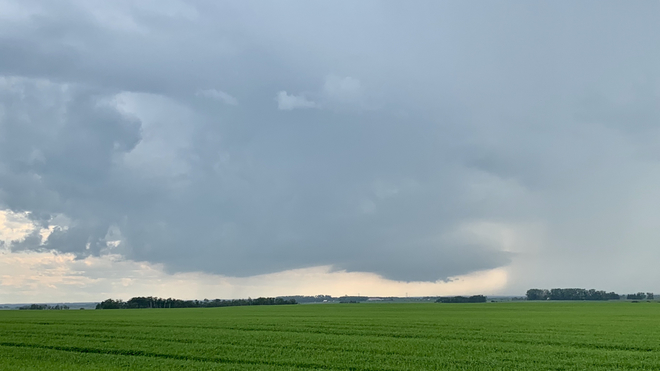 Supercell Thunderstorm Red Deer County No. 23, Alberta, CA