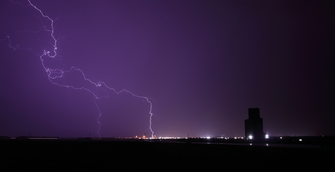 Nocturnal Thunderstorm Innisfail, Alberta, Canada