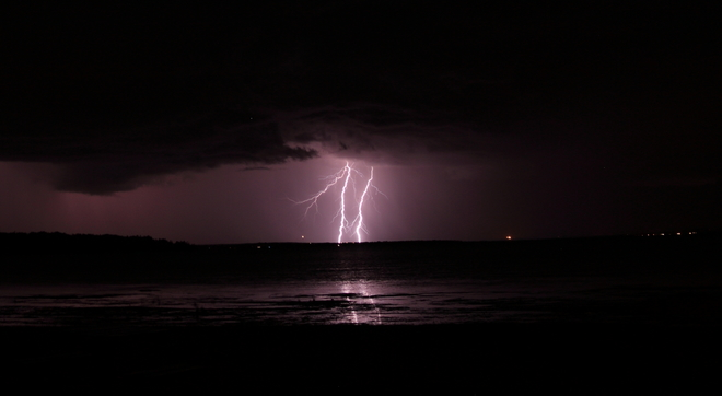 Nocturnal Thunderstorm Gull Lake, Alberta, Canada