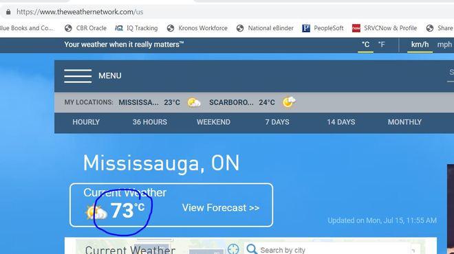 73C in Mississauga - Error Mississauga
