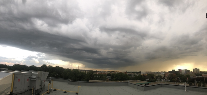 Edmonton storm looking south July 15,2019 Edmonton, Alberta, CA