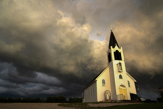 A Country Church in a Storm