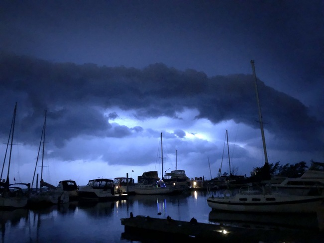 2am Cold Front over Port Dalhousie St. Catharines