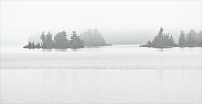Foggy morning, Elliot Lake. Elliot Lake, ON