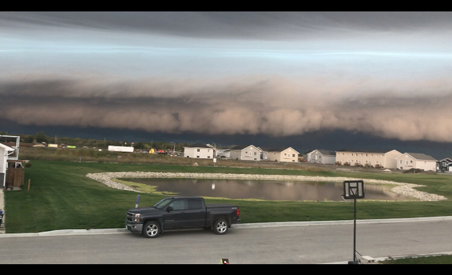 Shelf cloud before the storm Steinbach, Manitoba, CA