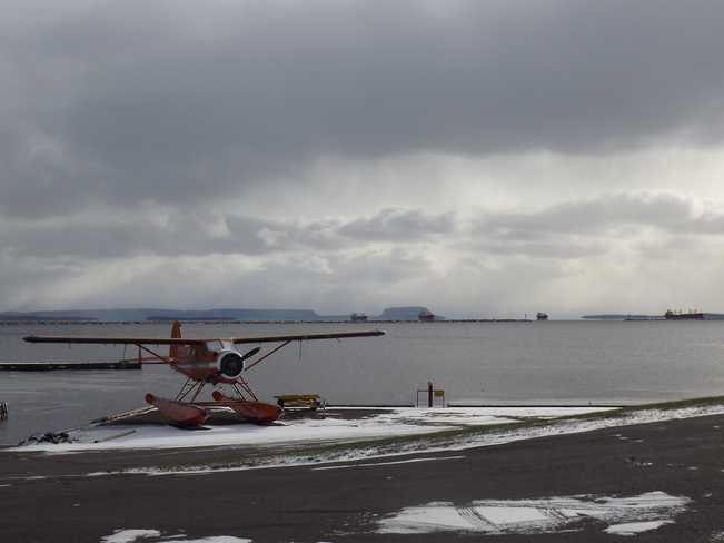 same ships,different day Thunder Bay Water Aerodrome, 429 Shipyard Rd, Thunder Bay, ON P7A 7T8, Canada