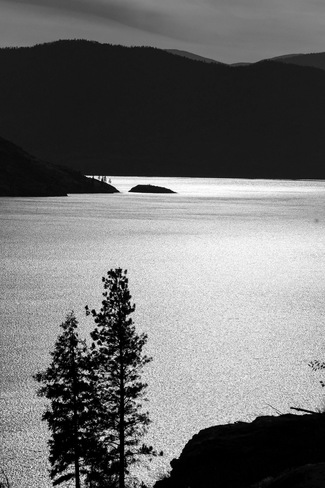 Rattlesnake Island Silhouette Peachland, BC
