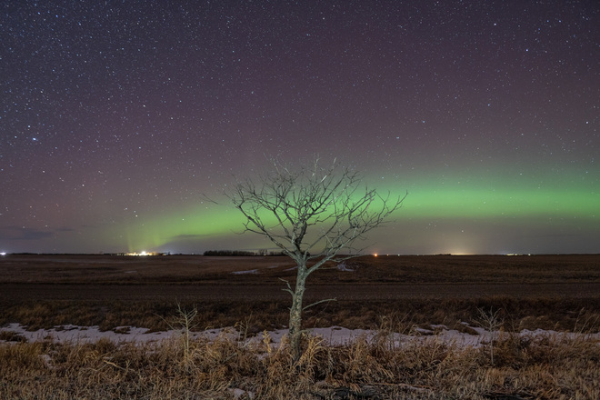 November night in Saskatchewan Alvena, SK