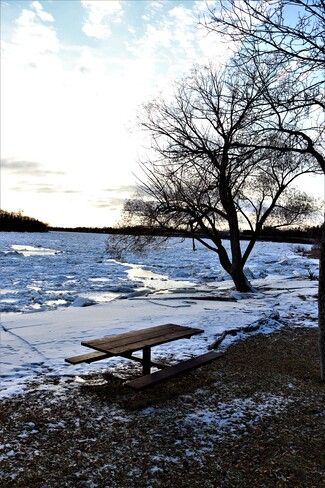 Picnic Season is Gone - Red River Ice Jam Lockport, MB