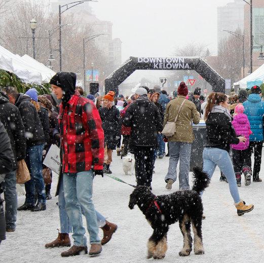 Strolling Kelowna's Winter Market