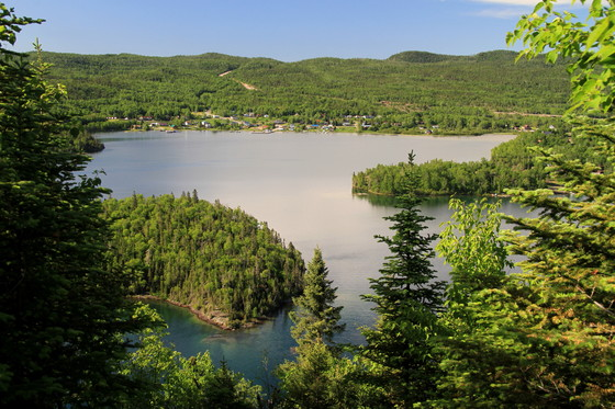 A view of the village of Rossport, from high on Quarry Island.