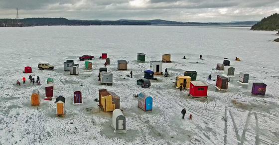Ice Fishing Village - Dominion Park. Saint John NB