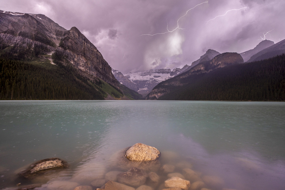 Stormy Lake Louise