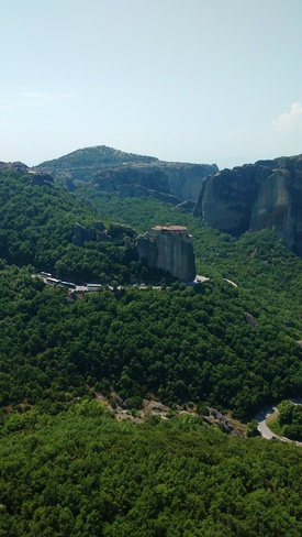 The Monasteries of Meteora, Greece The Great Meteoron Holy Monastery of the Transfiguration of the Saviour, Kalabaka, Greece