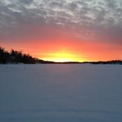Couché de soleil sur le lac Hélène