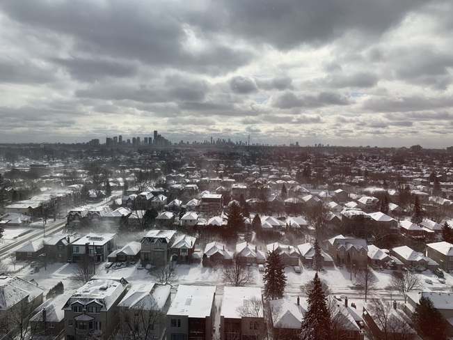 Stunning Veiw of Downtown Toronto in the Blowing Snow North York, Toronto, ON