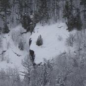 tempête de neige et apparition d'une tête d'animal