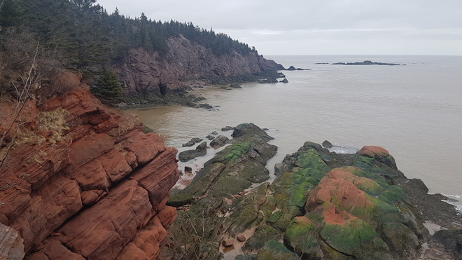 The Wild Coast of West Quaco St. Martins, NB
