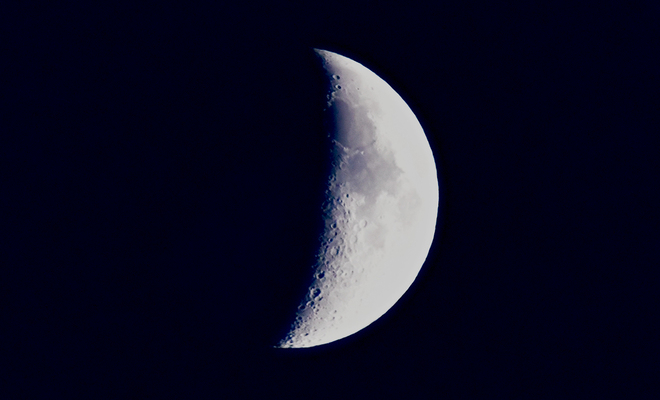 Waxing crescent Moon Moncton, NB