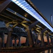 L'ancien et le nouveau pont Champlain