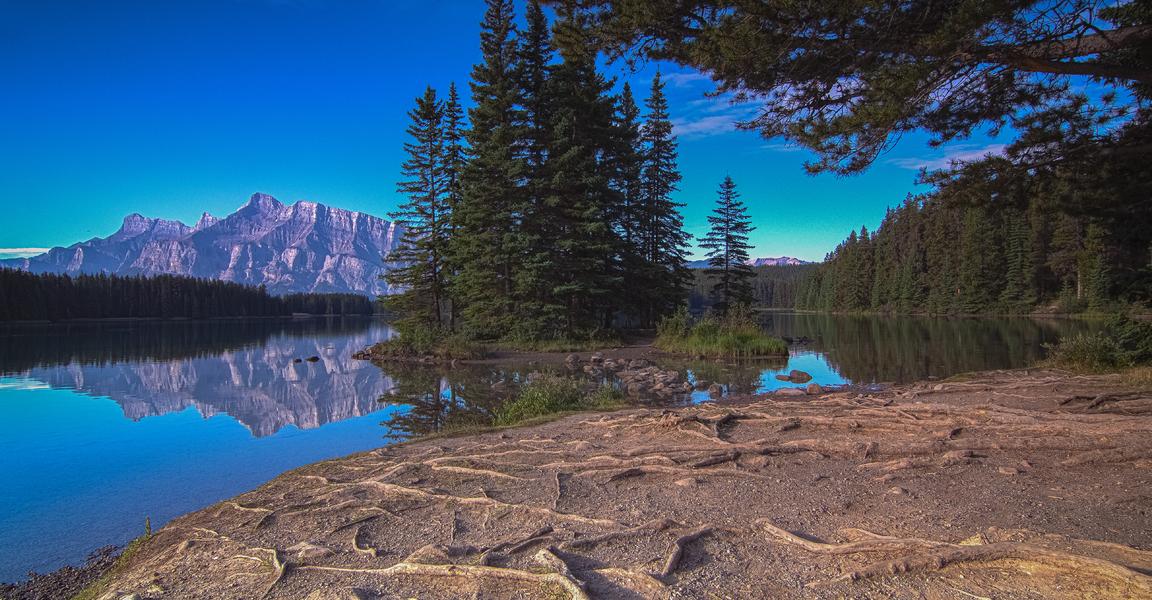 A Quiet Morning at Two Jake Lake
