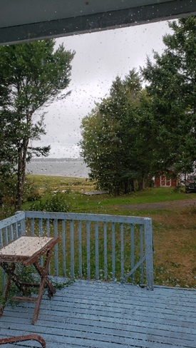 Raining in caribou n.s today Caribou, NS