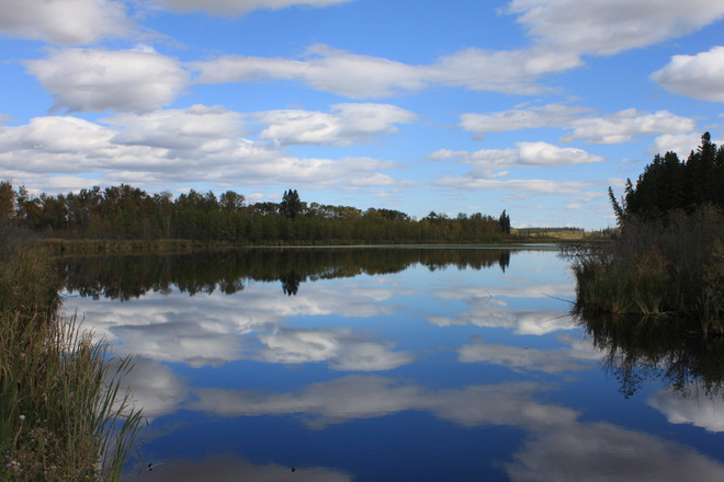 A small lake near home in Chipman Alberta . Chipman, AB