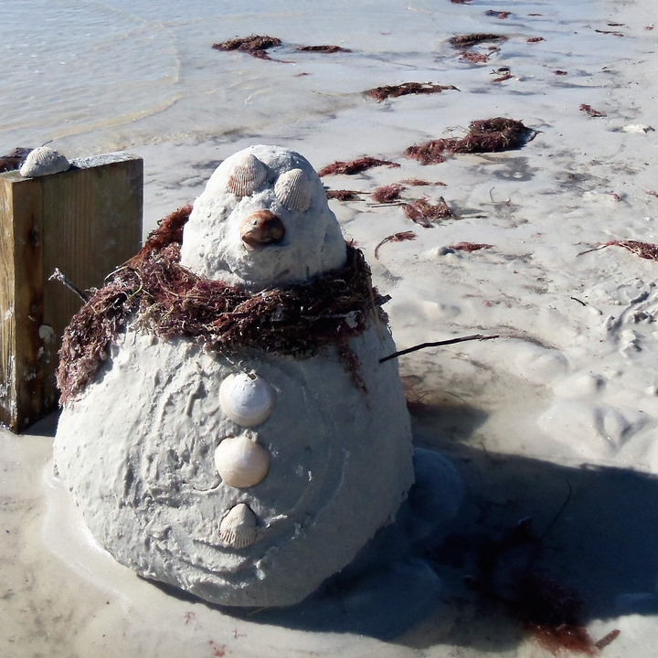 Love the sound of the ocean=then came across this cute little sandman.
