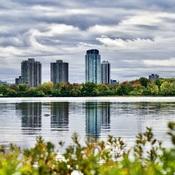 Reflets sur rivière des Outaouais