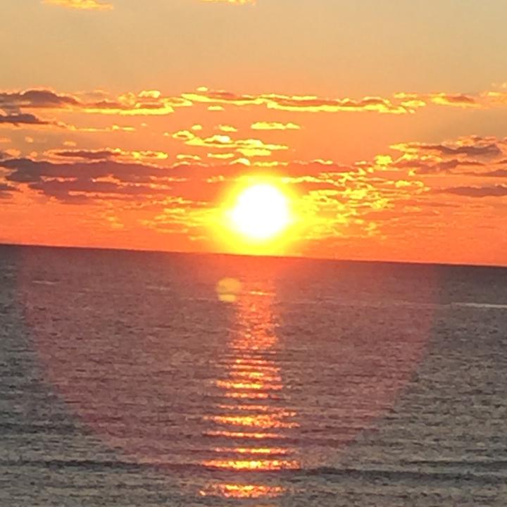 Beautiful sunset over the Atlantic.