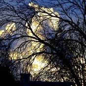 Un coucher de soleil...inhabituel