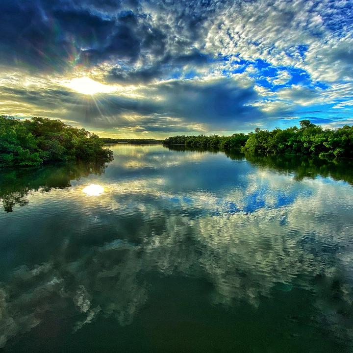 Sunrise at Lovers Key State Park