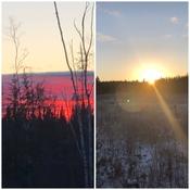 Coucher et lever de soleil