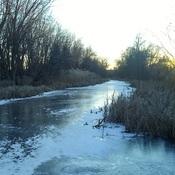 Soleil faible .... eau glacée!