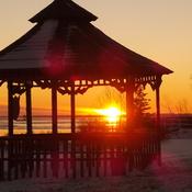 Coucher de soleil à Ragueneau sur la Côte-Nord